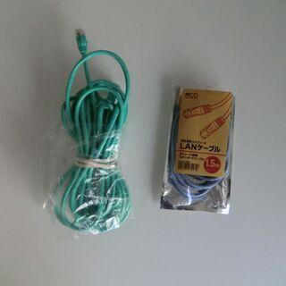 ◆綺麗インタネットLANケーブル2本セット5M+1.5M