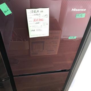 【ネット決済・配送可】お洒落な ブラウン冷蔵庫♪2018年 単身向け