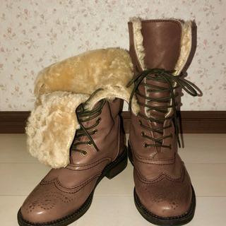 #65 本革 ブーツ ROPE' ロペ ファーの画像
