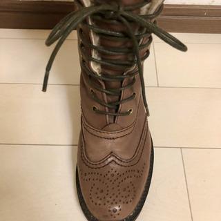 #65 本革 ブーツ ROPE' ロペ ファー - 靴/バッグ