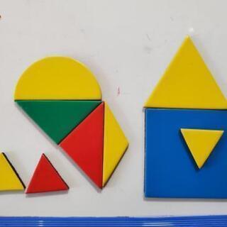 シンプルなマグネットおもちゃ 丸・三角・四角