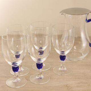 AMWAY グラス ワイングラス&ピッチャー セット(E899wY)