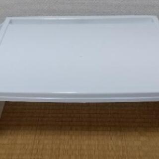 簡易テーブル 白 プラスチック性