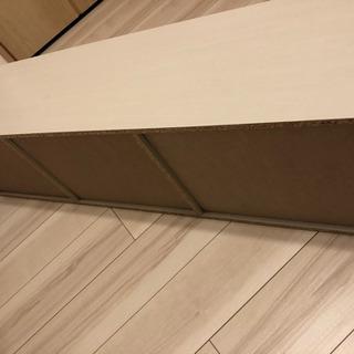 【中古美品 組立済】山善 カラーボックス ホワイト 幅123cm...