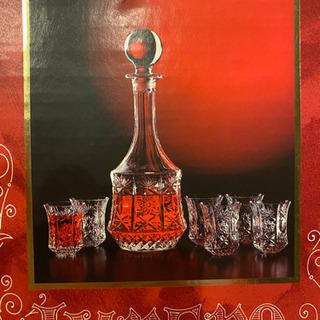 (価格下げました)イタリア製 ガラスデキャンター&グラス