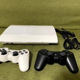 PS3 本体 ホワイト コントローラー2個付き [中古]