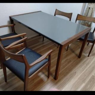 新品未使用!ウォルナット ダイニングテーブル&椅子4脚