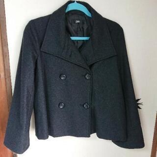 ショート丈のピーコート 濃いグレー Lサイズ
