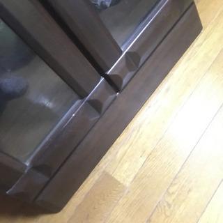 ガラス両開き本棚 ブラウン チェスト コレクションボード 良品 − 埼玉県