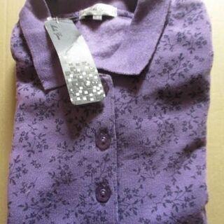 【最終処分】 未使用タグ付き 薄めの紫色 裏起毛 長袖レディース...