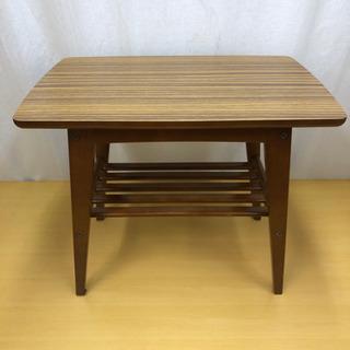 カリモク60 サイドテーブル ウォールナット T36200 美品