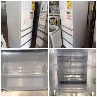 S175★1年保証★6ドア冷蔵庫★MITSUBISHI MR-WX53Z 2016年製★517L⭐動作確認済⭐クリーニング済 - 家電