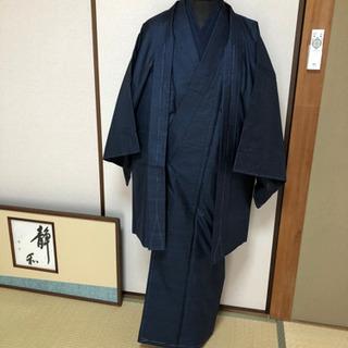 新品 紳士大島紬アンサンブル一式肌襦袢、長襦袢、羽織りひも兵児帯付き