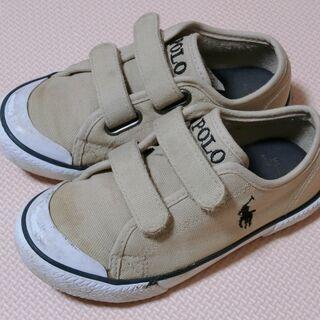 子ども 靴 ポロ・ラルフローレン ベージュ 16センチ