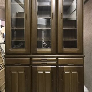 木製 食器棚 水屋 大型 幅118cm×奥行45cm×高さ197cm