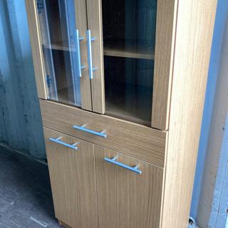 1201-209 食器棚 単身用におすすめ 木製 現状