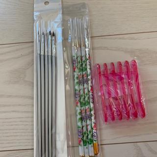 【断捨離セール】ネイル用品①  筆&筆おきセット☆新品&美品