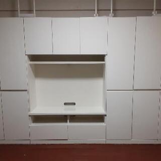 白い棚  壁面収納テレビ台