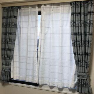 ニトリ 遮光+レースカーテン