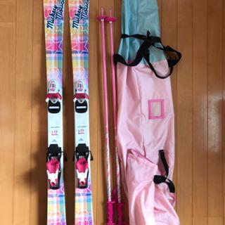 女児用ミッキーマウス柄スキー&スキー靴&リュックセット ②