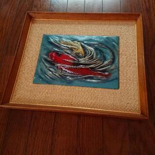 鯉の壁飾り
