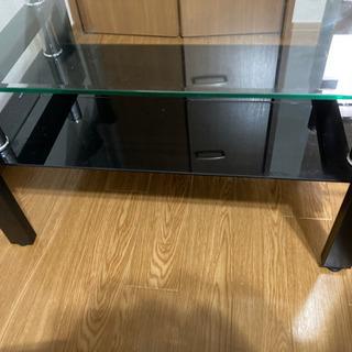 【ネット決済・配送可】ガラスセンターテーブル