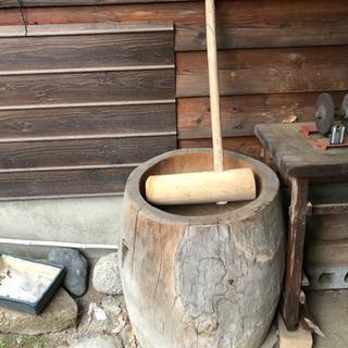 餅つき用の臼と杵【打合せ中】