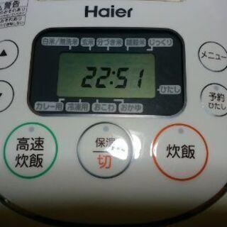 ハイアール HAIER JJ-M55Aマイコン炊飯器 5.5合炊き - 家電