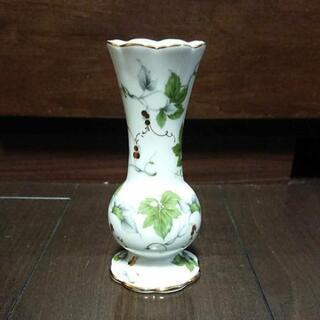 セラミックアートアカデミー 花瓶 葉柄 シミあり