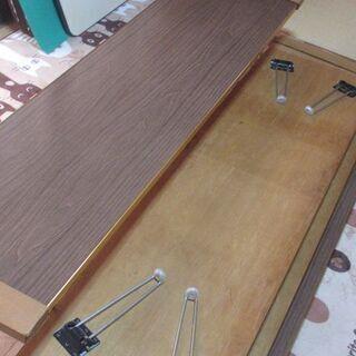 ☆無料☆和座敷テーブル 折りたたみ式☆4台セット☆発送不可