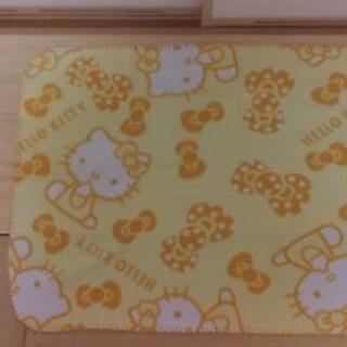 【新品】フリースブランケット(Hellow Kitty黄)