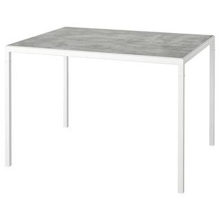 IKEA NYBODA リバーシブルテーブル ホワイトの画像