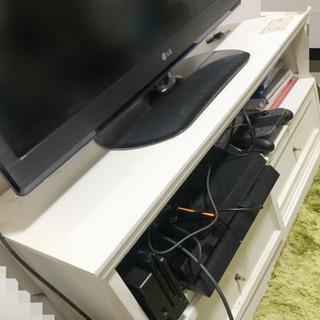 白い木製 テレビ台