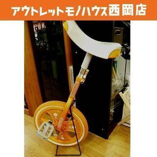 一輪車 16インチ スタンド付き オレンジ色 キッズ 西岡店