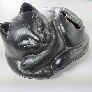 盛岡南部鉄器 岩鋳  IWACHU 猫型蚊遣り 鐵器 蚊取 器 ネコ