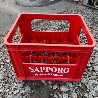 レトロ サッポロビール ボトルケース プラスチック ディスプレイ