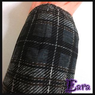[Eara]エアラ タータンチェック スカート 灰色 ボトムス ...