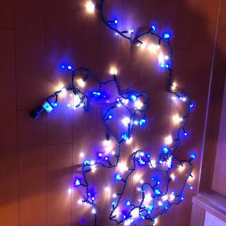 お話中 LEDクリスマスイルミネーション100球ブルー/ホワイト...