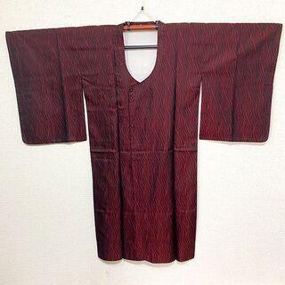 M11007 和装 ロングコート 着物 羽織 赤×黒 レディース...