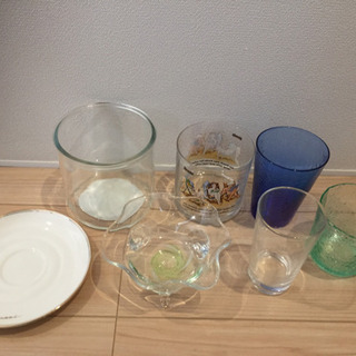 [決まりました]不揃いガラス食器セット