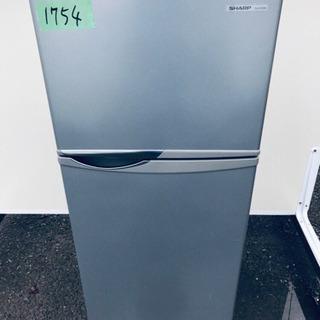 1754番 シャープ✨ノンフロン冷凍冷蔵庫✨SJ-H12W-S‼️