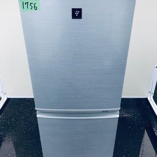 1756番シャープ✨ノンフロン冷凍冷蔵庫✨SJ-PD14W-S‼️