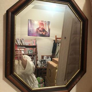【ネット決済】アンティーク調 八角形 鏡