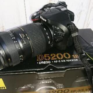【ネット決済】NIKON D5200 300mmズームレンズ 一眼レフ