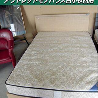 ダブルベッド フランスベッドフレーム 幅140×長さ200×高さ...