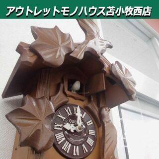 鳩時計 MIKEN CUCKOO CLOCK 木製 からくり時...