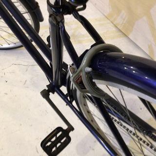 27インチ シティーサイクル ネイビー - 自転車