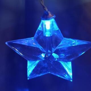 (決定しました)クリスマス飾り イルミネーション星(クリスタル)透明