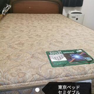 【ネット決済・配送可】セミダブルマットレス 東京ベッド