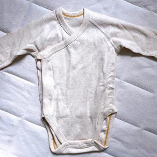 【新品未使用】ベビー服60サイズ UNIQLOクルーネックボディ - 子供用品
